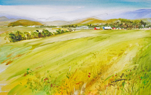 Painting - Across The Field  by P Anthony Visco