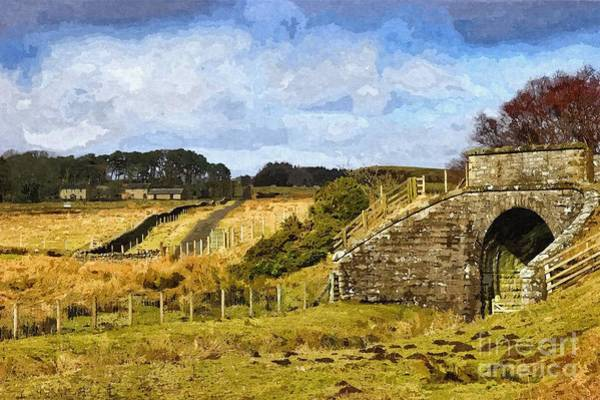 Photograph - Across The Old Railway - Phot Art by Les Bell