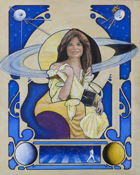 Nasa Wall Art - Painting - Across The Universe - Carolyn Porco by Simon Kregar