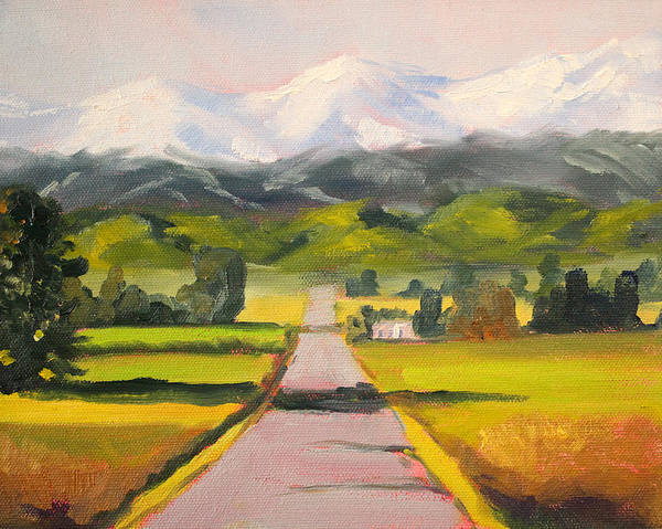 Central Oregon Wall Art - Painting - Across The Valley by Nancy Merkle