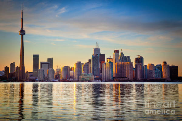 Cn Tower Wall Art - Photograph - Across The Water by Inge Johnsson