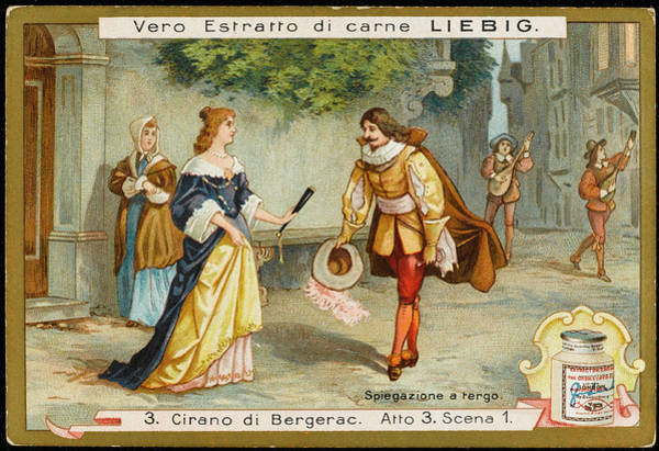 Liebig Wall Art - Drawing - Act Three, Scene One The Serenade - by Mary Evans Picture Library