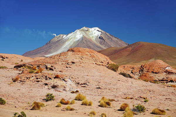 Bolivia Photograph - Active Vulcano In Bolivia by Werner Büchel