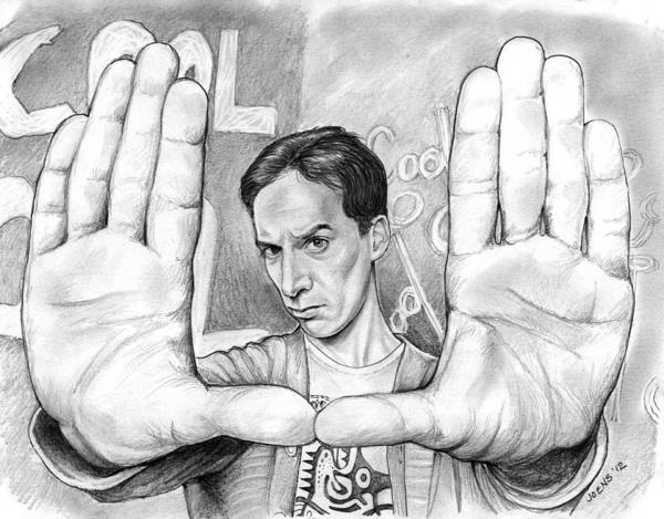 Wall Art - Drawing - Actor Danny Pudi by Greg Joens