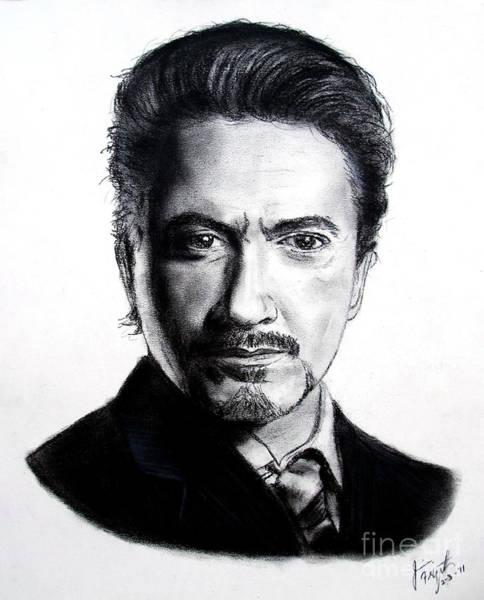 Wall Art - Drawing - Actor Robert Downey Jr by Jim Fitzpatrick