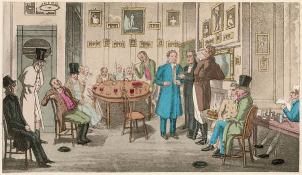 Wall Art - Drawing - Actors At The Craven's Head  Tavern by Mary Evans Picture Library