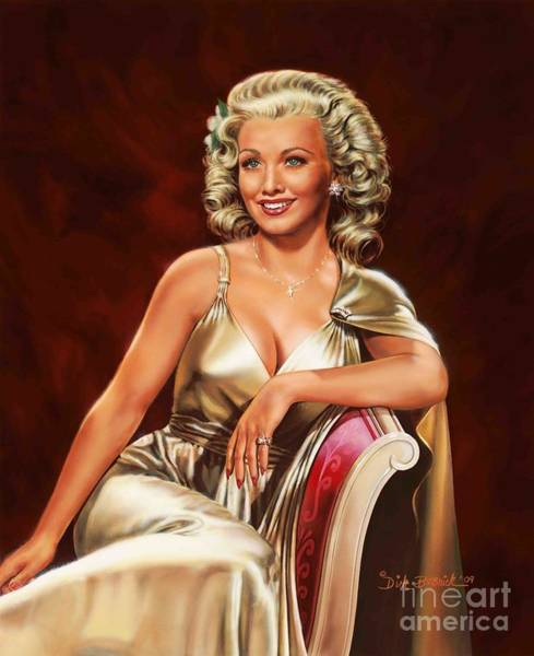 Wall Art - Painting - Actress Carole Landis by Dick Bobnick