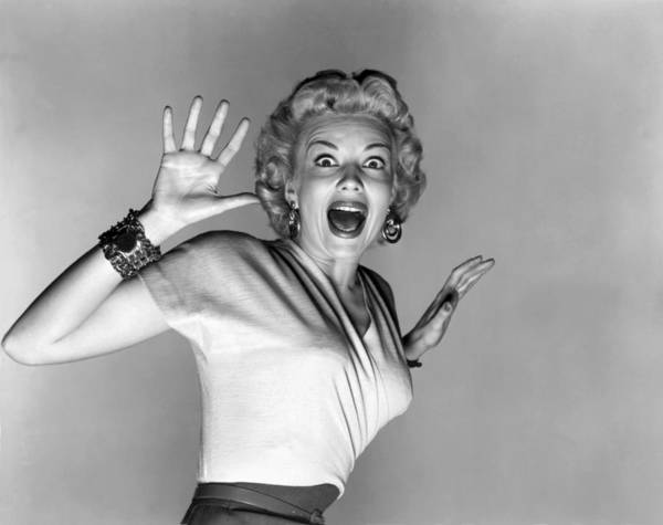 Afraid Photograph - Actress Kathleen Hughes by Underwood Archives