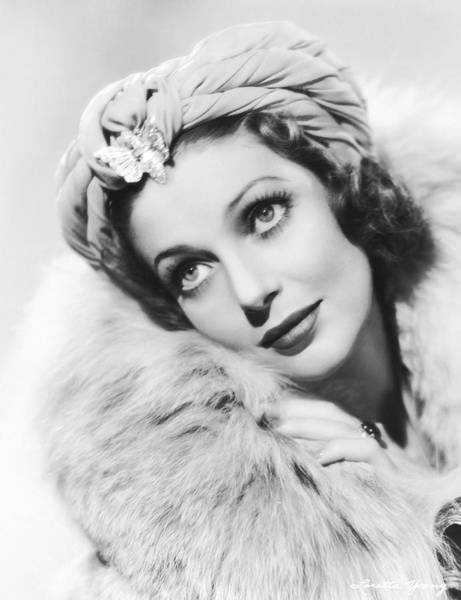 Photograph - Actress Loretta Young by Underwood Archives