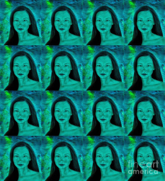 Leading Actress Wall Art - Digital Art - Actress Lucy Liu Pop Art Version by Jim Fitzpatrick