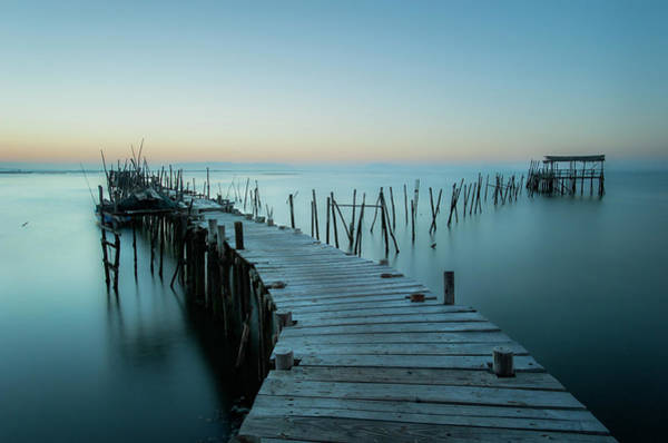 Dock Photograph - Acuatic Sticks by Eugenio Pastor Benjumeda