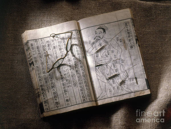 Tcm Wall Art - Photograph - Acupuncture Book by Brooks / Brown
