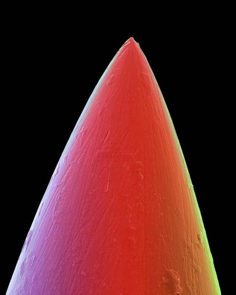 Tcm Wall Art - Photograph - Acupuncture Needle Tip by Dennis Kunkel Microscopy/science Photo Library