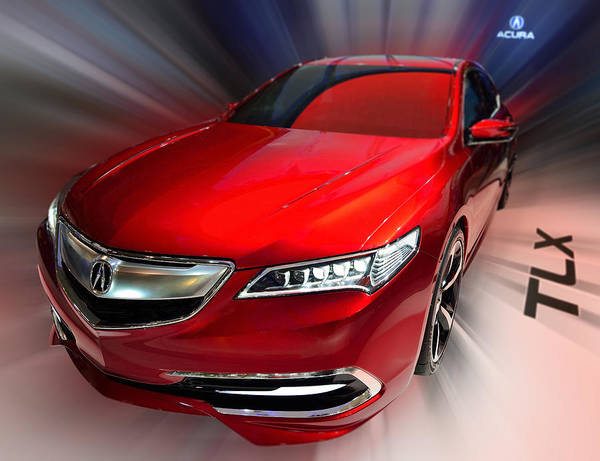 Photograph - Acura Tlx Prototype 2014 by Dragan Kudjerski