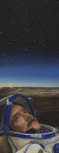 Nasa Wall Art - Painting - Ad Astra - Col. Chris Hadfield by Simon Kregar