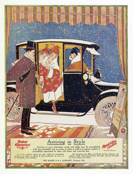 Rauch Wall Art - Drawing - Ad Electric Car, 1916 by Granger