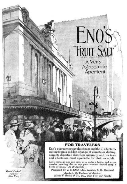 Grand Central Painting - Ad Eno's Fruit Salt, 1919 by Granger