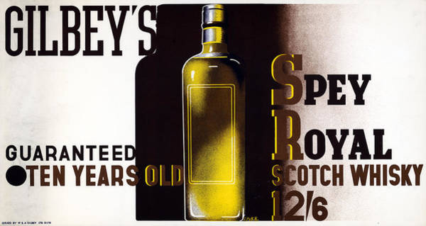Wall Art - Painting - Ad Gilbey's Scotch, 1933 by Granger