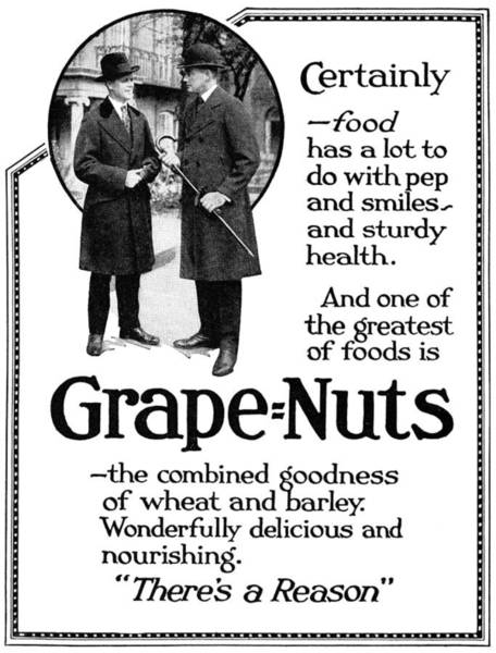 Barley Painting - Ad Grape Nuts, 1919 by Granger