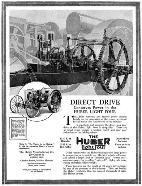 Farm Equipment Drawing - Ad Huber Light Four by Granger
