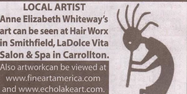 Kokopelli Photograph - Ad In Newspaper by Anne-Elizabeth Whiteway