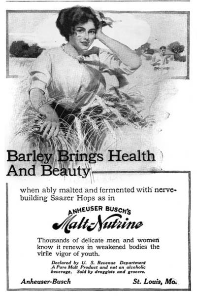 Barley Painting - Ad Malt-nutrine, 1911 by Granger