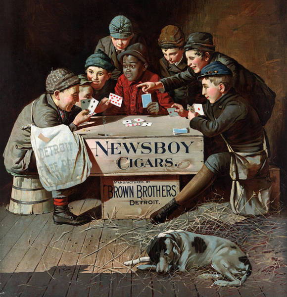 Wall Art - Painting - Ad Newsboy Cigars, C1894 by Granger