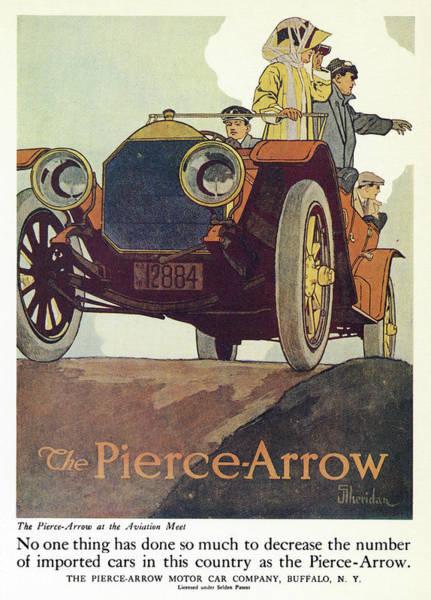 American Car Drawing - Ad Pierce-arrow, 1925 by Granger