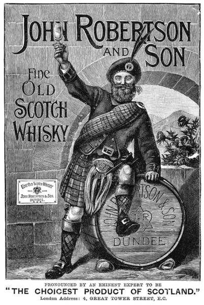 Bagpipe Wall Art - Painting - Ad Scotch Whisky, 1893 by Granger