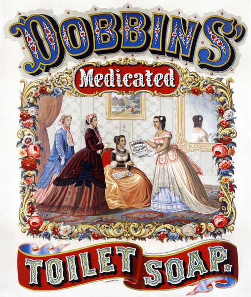 Wall Art - Drawing - Ad Soap, C1869 by Granger