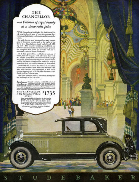Painting - Ad Studebaker, 1927 by Granger