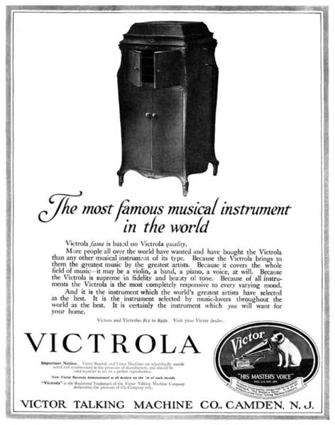 Wall Art - Painting - Ad Victrola, 1919 by Granger