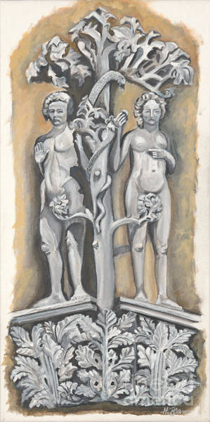 Holly Brannan Wall Art - Painting - Adam And Eve by Holly Bartlett Brannan