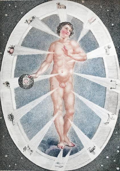 Creationist Wall Art - Photograph - Adam As Zodiac Man by Paul D Stewart