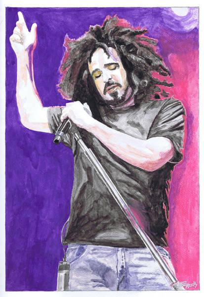 Wall Art - Painting - Adam Duritz by Eric Hamilton