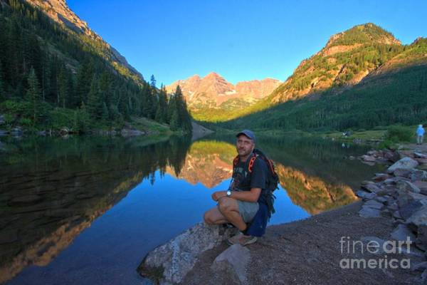 Photograph - Adam Jewell At Maroon Bells by Adam Jewell