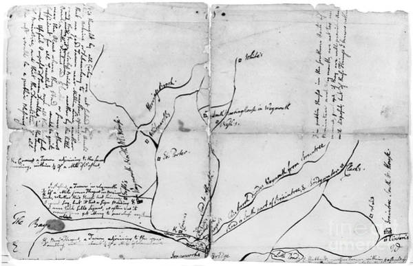 Photograph - Adams: Tavern Map, C1761 by Granger
