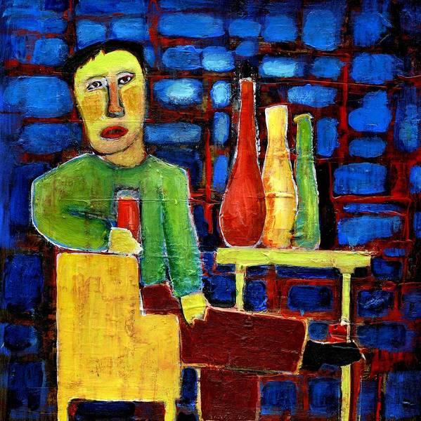 Alcoholism Painting - Addiction by Agnes Trachet