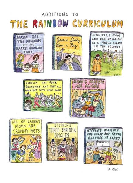 1993 Drawing - Additions To The Rainbow Curriculum by Roz Chast