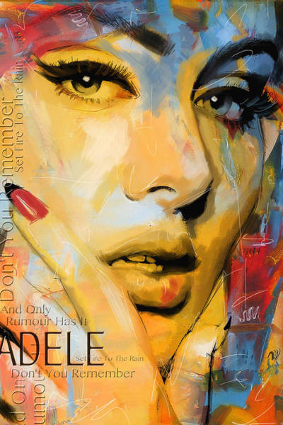 Corporate Art Task Force Wall Art - Painting - Adele by Corporate Art Task Force