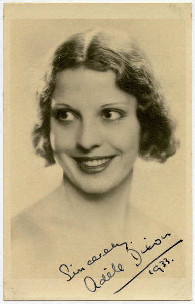 Dixon Photograph - Adele Dixon (1908  1992), English by Mary Evans Picture Library