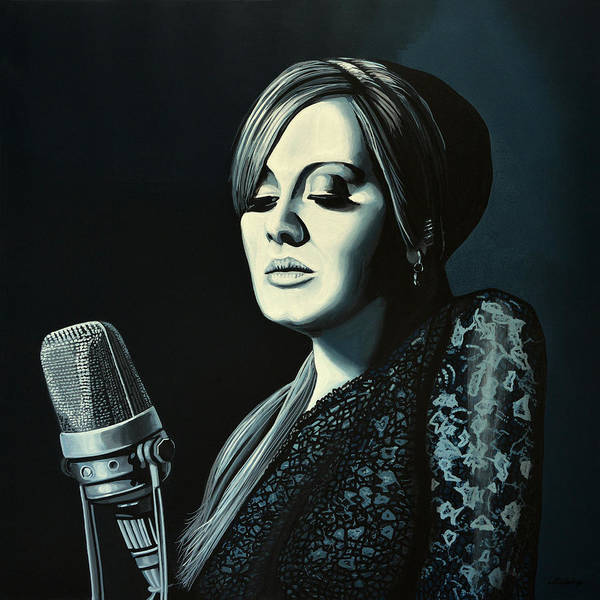 Pavement Wall Art - Painting - Adele 2 by Paul Meijering