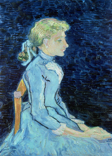 Blue Dress Painting - Adeline Ravoux, 1890  by Vincent van Gogh