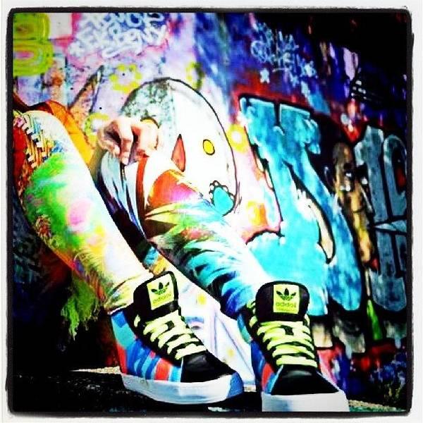Wall Art - Photograph - #adidas #colors #iphone #fashion #love by Francisca Santana