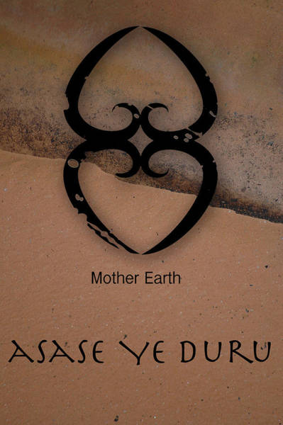 Mother Earth Digital Art - Adinkra Asase Ye Duru by Kandy Hurley