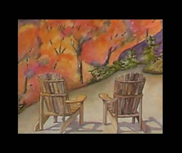 Adirondack Mountains Painting - Adironadack Afternoon by Margaret Voss