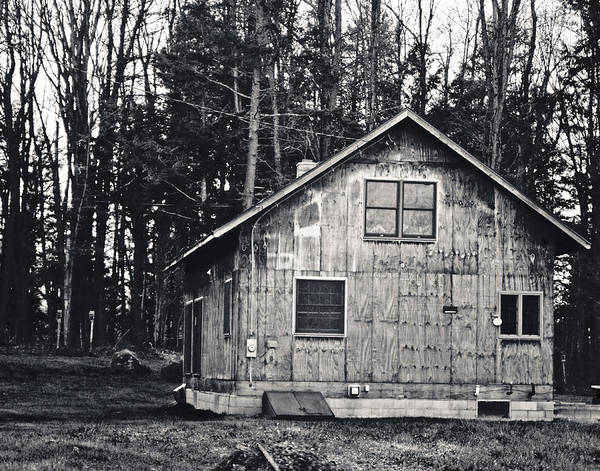 Photograph - Adirondack Camp Black And White by Maggy Marsh