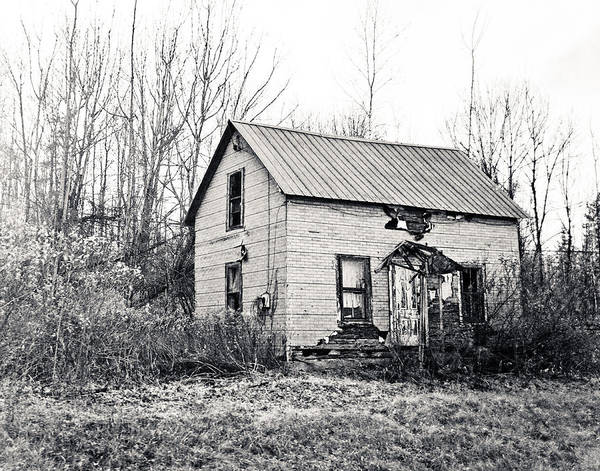 Photograph - Adirondack Camp In Black And White by Maggy Marsh