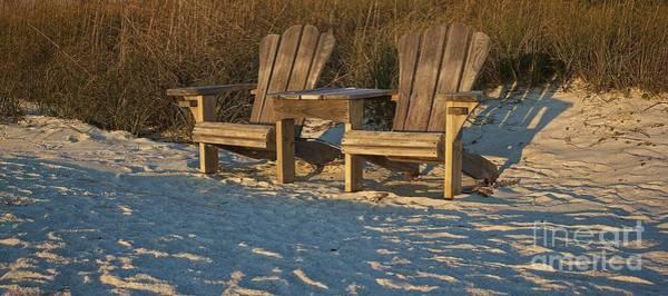 Photograph - Adirondack Chairs  by Amazing Jules