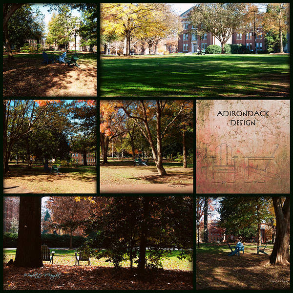 Photograph - Adirondack Chairs Collage4 by Paulette B Wright